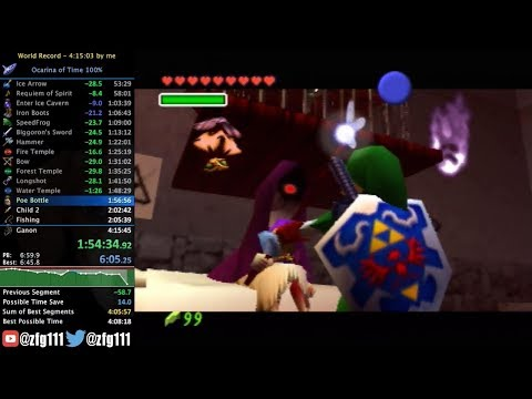 Ocarina of Time 100% Speedrun in 4:12:38