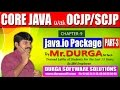 Core Java With OCJP/SCJP-java IO Package-Part 3 || File I/O