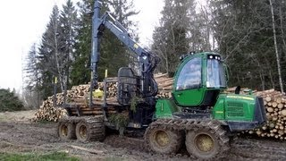Repeat youtube video John Deere 1010E moving timber