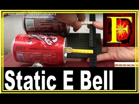 DIY Franklin's Bell _ Static electricity Bell || Fire collection ||