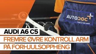 Skifte Bærebro bak og foran AUDI A6 Avant (4B5, C5) - videoopplæring