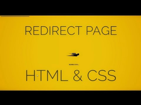 Redirect Page Design Animation[ HTML & CSS]