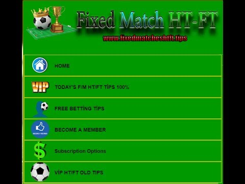 FREE TODAY'S TIPS 2017 15 07 Fixed Matches HT FT