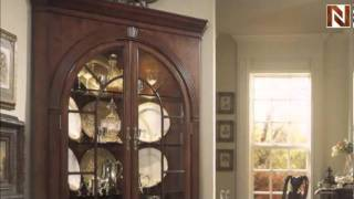 Complete Corner China Cabinet - American Drew, Cherry Grove Collection 792-860r