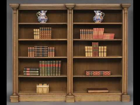 Antique Oak Bookcase with Leaded Glass Doors - Antique Oak Bookcase With Leaded Glass Doors - YouTube