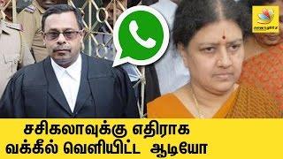 Sasikala fed Jayalalitha slow poison : Viral WhatsApp Audio Advocate Krishnamoorthy | Death
