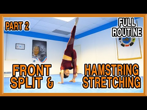 Front Split & Hamstring Stretching (Part 2) | Follow Along Yoga Routine