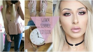 Get Ready With Me summer edition: Hair, makeup, outfit | Renaissance palette