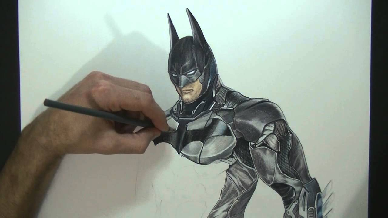 Drawing Batman - Arkham Knight - Speed Painting - YouTube