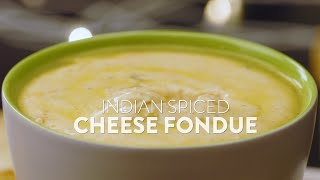 Recipe #Shorts: Dishes for Cheese Lovers! Indian-Spiced Cheese Fondue | Easy Meals | Date Night