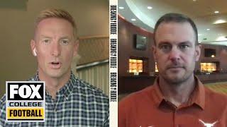 Texas head coach Tom Herman talks preseason with Joel Klatt | BREAKING THE HUDDLE | CFB ON FOX