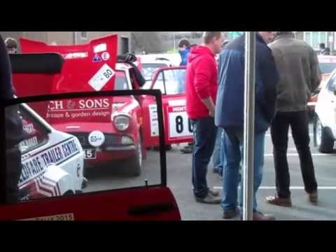 Scrutineering for the 2015 Mid Wales Historic Stages