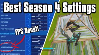 Fortnite Season 4 Settings Guide! - Colorblind Modes, FPS Boost, & More!