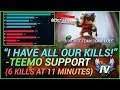 TEEMO SUPPORT CARRIES AN IMPOSSIBLE GAME! MOST DAMAGE DONE AS SUPPORT!