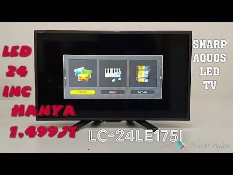 "SHARP aquos led tv LC-24le175i LEDTV 24"" Bagus dan murah hanya 1 juta"