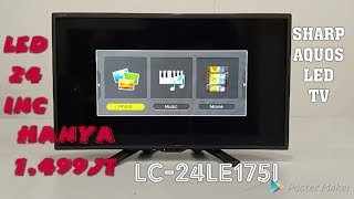 "Video SHARP aquos led tv LC-24le175i LEDTV 24"" Bagus dan murah hanya 1.499 juta download MP3, 3GP, MP4, WEBM, AVI, FLV Agustus 2018"