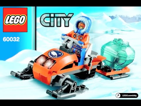 How To Build Lego City 60032 Arctic Snowmobile Instructions