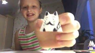 Как сделать бумажного котенка, оригами