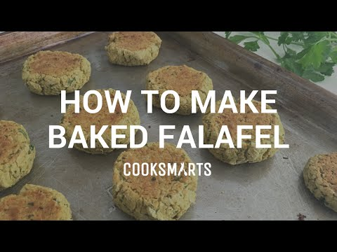 How to make healthy baked falafel by Cook Smarts @cooksmarts