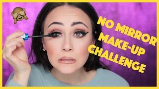 NO MIRROR Makeup CHALLENGE | mein Mann lacht mich aus WTF | deutsch | Hatice Schmidt