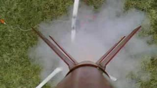 Longshot 2-stage model rocket on-board video