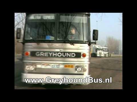 Originele Amerikaanse Greyhound Bus nu te huur in Nederland.
