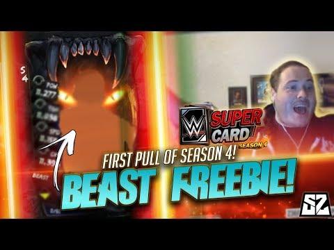WWE SuperCard SEASON 4 #1 - BEAST TIER FREEBIE & FIRST GAMES!!