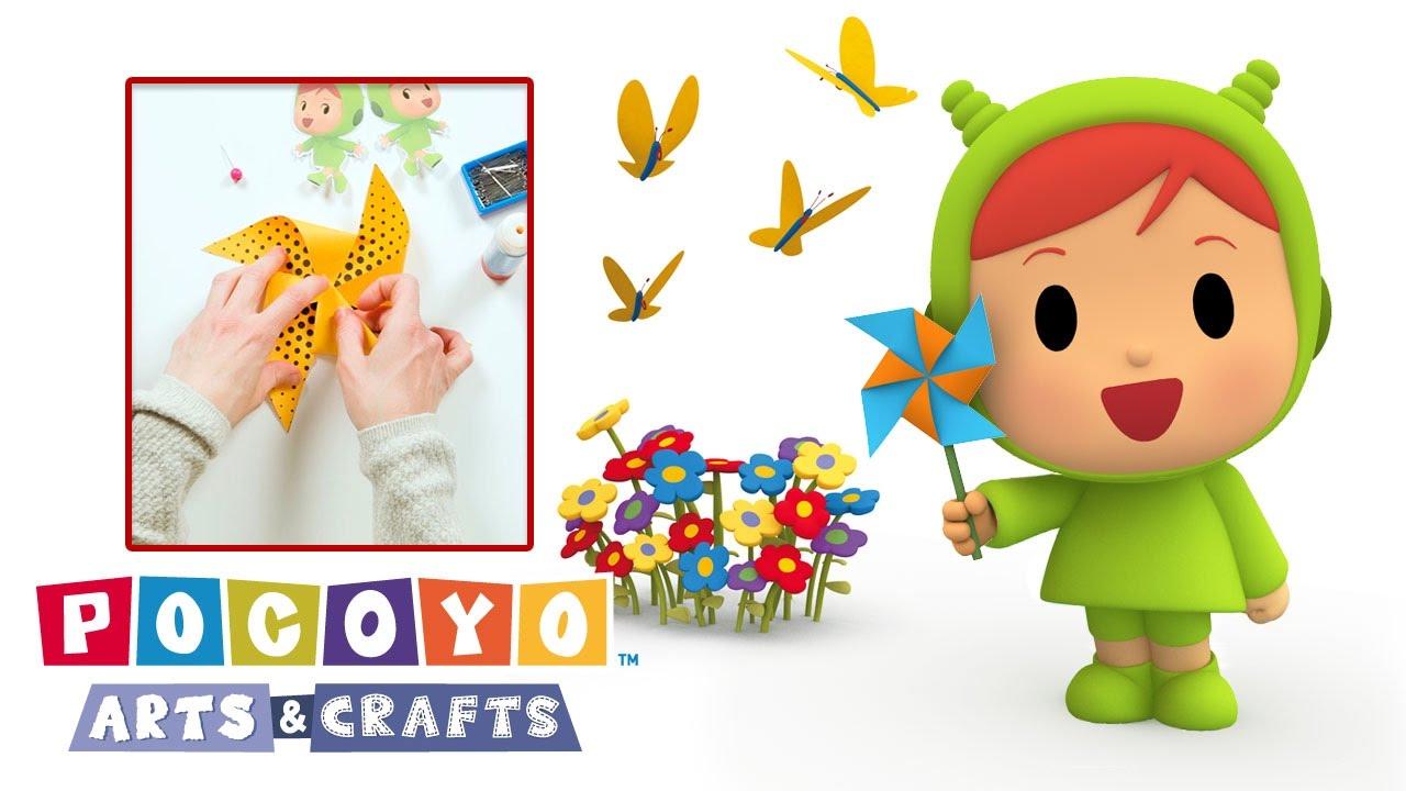 Youtube Art And Craft: Pocoyo Arts & Crafts: Nina's Windmill