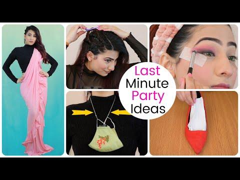 Last Minute Farewell **PARTY**  IDEAS - Makeup, Hairstyle, Heel etc. | Anishka Khantwaal |
