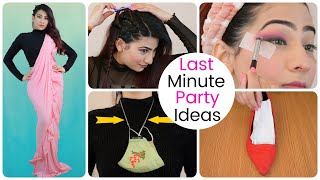 Last Minute Farewell **PARTY**  IDEAS - Makeup, Hairstyle, Heel etc. | Anishka Khantwaal |