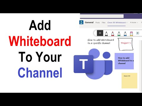 How to Add Whiteboard To A Channel in Microsoft Teams | Add Whiteboard Tab in Teams | New Features