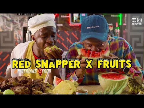 Download The Red Snapper Fish 🐬 & Fruits 🍉