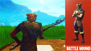 "NEW Fortnite ""Battle Hound"" Skin! Fortnite Battle Hound & Silver Fang Items Gameplay!"