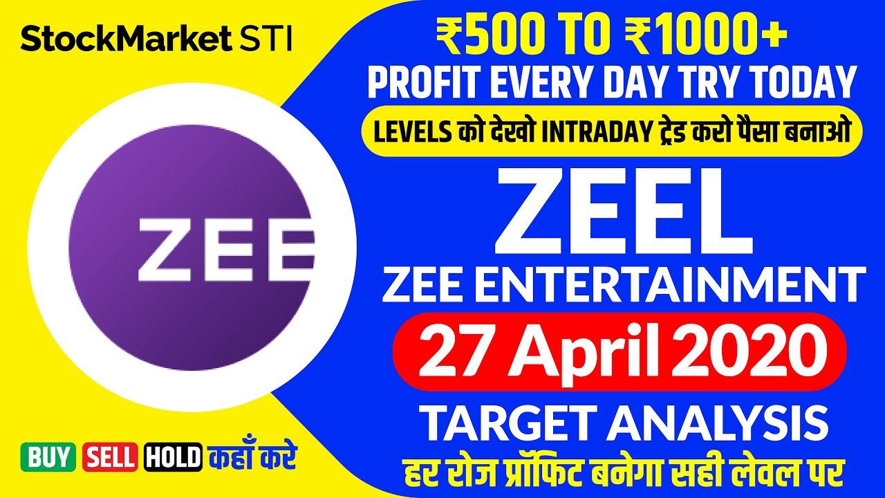 27 April Share Price Targets Zeel Zee Entertainment News Zeel Stock Forecast Intraday Trading Youtube