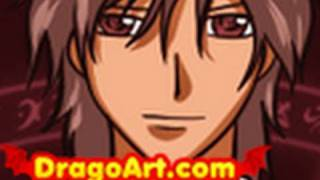 How to Draw Kaname Kuran, Kaname, Vampire Knight