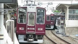【平日朝ラッシュ時の宝塚線の普通列車】阪急十三駅にて