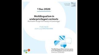 Tsimpli: Multilingualism in underprivileged contexts