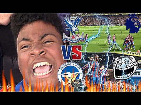 CRYSTAL PALACE V BRIGHTON (THE SCUM) VLOG 17-18 *THE TENSES GAME THAT I HAVE BEEN TOO*