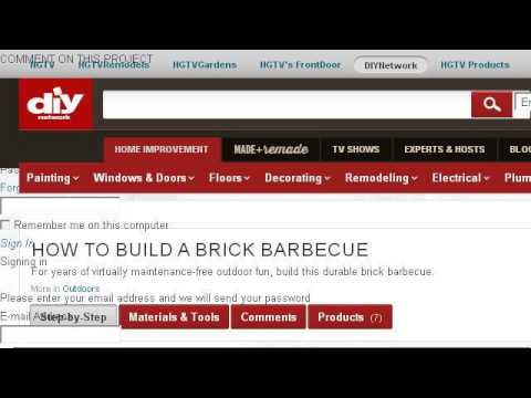 Building A Brick Barbeque To Fit A Weber Propane Grill