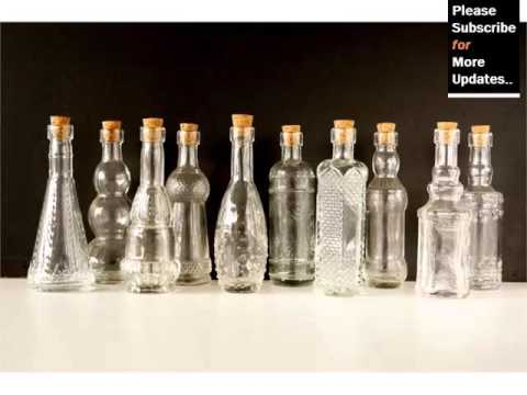 Decorative Colored Glass Bottles Best Glass Bottle Decoration  Decor Pictures Ideas  Youtube Decorating Design