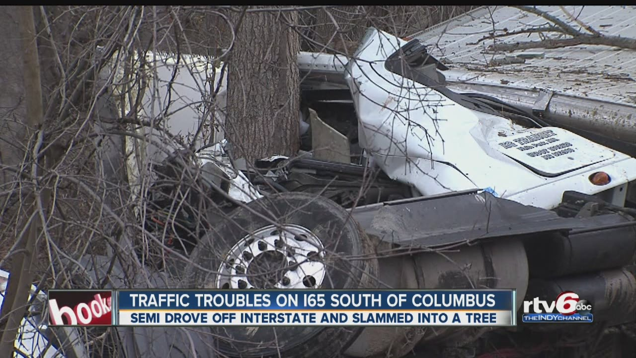 Semi driver in critical condition after crash on I-65