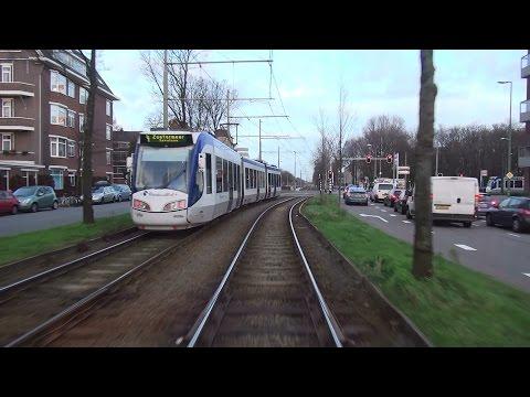 Burgemeester Hovylaan - Centraal Station   HTM R-NET tramlijn 2   Siemens Avenio 5004