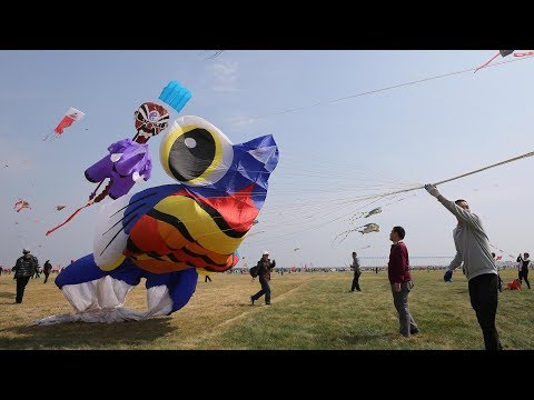35th Weifang International Kite Festival kicks off in east China