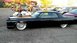 1966 BLACK CADILLAC COUPE DEVILLE LOWRIDER 22' RIMS LOW PROFILE TIRES