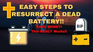 Dead Battery? Resurrect / Recharge Dead Car Battery! You can bring your car battery back to life!
