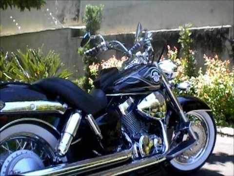 Honda Shadow 750 >> Shadow 750 2009 customizada - YouTube