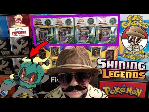 NEW MARSHADOW PIN COLLECTION BOX!! OPENING SHINING LEGENDS POKEMON CARD BOOSTER PACKS!! FF#57 pt 2!
