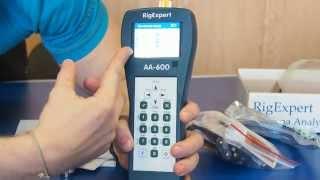 Антенні аналізатори RigExpert AA-600, AA-1000, AA1400. Комплектація і вимірювання КСВ