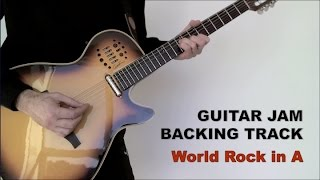 Guitar Jam Backing Track - World Rock in A (87 bpm)