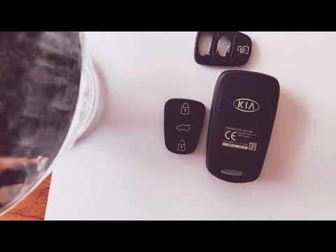 Замена резинки на ключ Киа Рио 3 (за 60 секунд)
